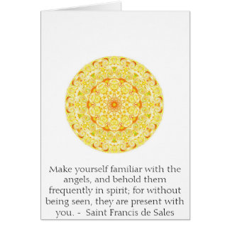 Saint Francis de Sales QUOTE about Angels Greeting Card