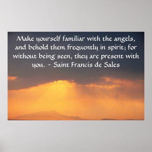 Saint Francis de Sales QUOTE about Angels Print