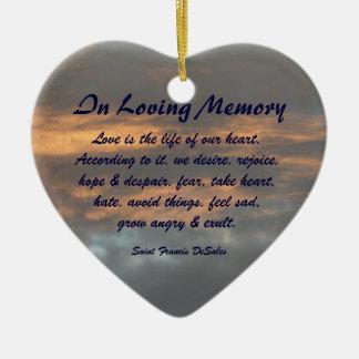 Saint Francis DeSales Loving Memory Sky Ornament