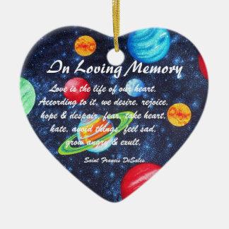 Saint Francis DeSales Memory Star Planet Ornament
