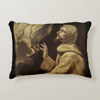 Saint Francis  Eyes Toward Heaven Decorative Pillow