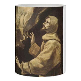 Saint Francis  Eyes Toward Heaven Flameless Candle
