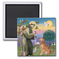 Saint Francis - Golden Retriever (#1) Magnet