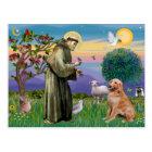 Saint Francis - Golden Retriever (#1) Postcard