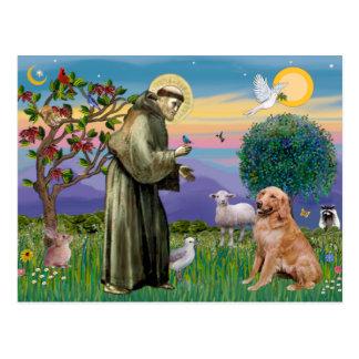 Saint Francis - Golden Retriever (#1) Postcards