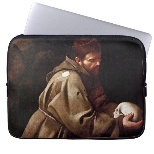 Saint Francis in Prayer - Caravaggio Computer Sleeve