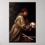 Saint Francis in Prayer - Caravaggio Posters