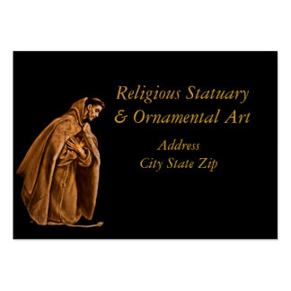 Saint Francis in Shadow Large Business Cards (Pack Of 100)