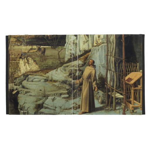 Saint Francis in the Desert by Giovanni Bellini iPad Folio Covers