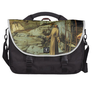 Saint Francis in the Desert by Giovanni Bellini Laptop Commuter Bag