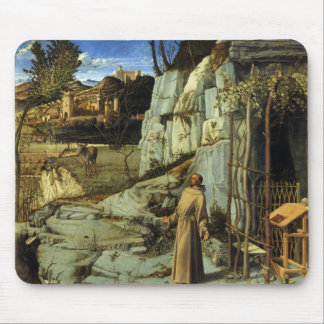 Saint Francis in the Desert by Giovanni Bellini Mouse Pad