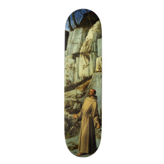 Saint Francis in the Desert by Giovanni Bellini Skateboard