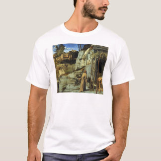 Saint Francis in the Desert by Giovanni Bellini T-Shirt