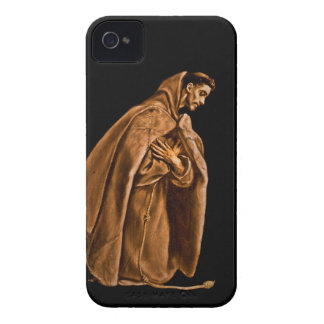 Saint Francis Kneeling in Shadows iPhone 4 Case-Mate Cases