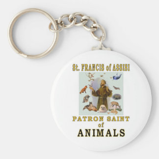 SAINT FRANCIS of ASSISI Basic Round Button Keychain