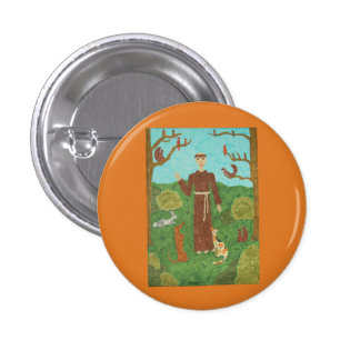 Saint Francis of Assisi 1 Inch Round Button