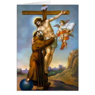 Saint Francis of Assisi Cross Jesus World Angels Card