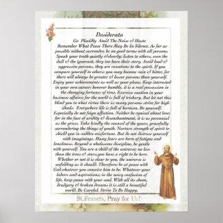 Saint Francis of Assisi DESIDERATA Poster