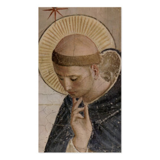 Saint Francis of Assisi  in Contemplation Double-Sided Standard Business Cards (Pack Of 100)
