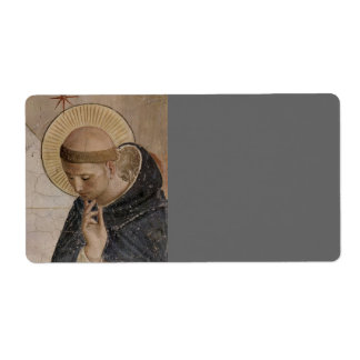 Saint Francis of Assisi  in Contemplation Shipping Label