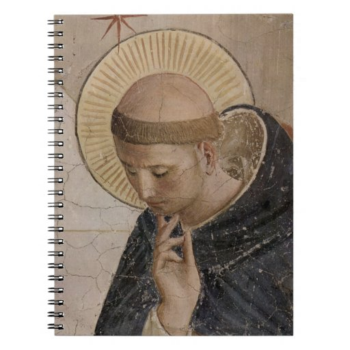 Saint Francis of Assisi  in Contemplation Spiral Notebooks