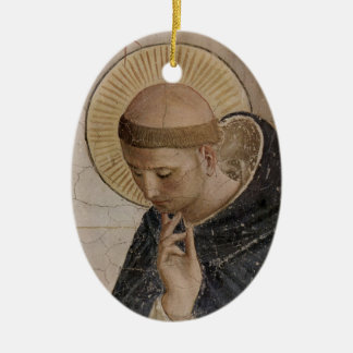 Saint Francis of Assisi  in Contemplation Christmas Tree Ornament