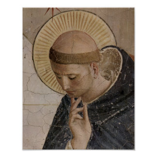 Saint Francis of Assisi  in Contemplation Poster