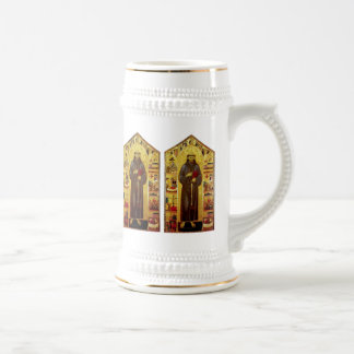 Saint Francis of Assisi Medieval Christian Icon Beer Stein
