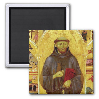 Saint Francis of Assisi Medieval Iconography 2 Inch Square Magnet