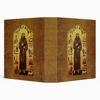 Saint Francis of Assisi Medieval Iconography 3 Ring Binder