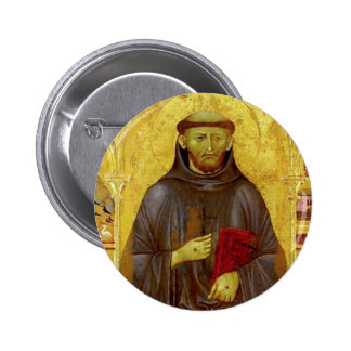 Saint Francis of Assisi Medieval Iconography Pinback Button