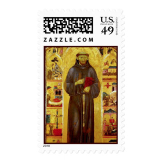Saint Francis of Assisi Medieval Iconography Postage Stamp
