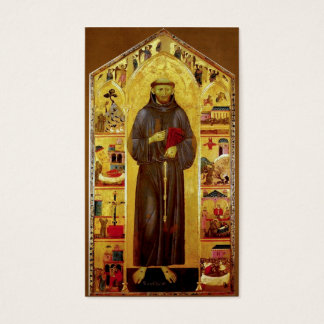 Saint Francis of Assisi Medieval Prayer Card