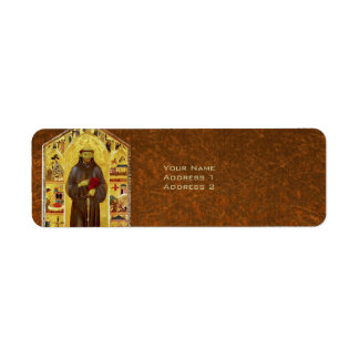 Saint Francis of Assisi Medieval Religious Icon Label
