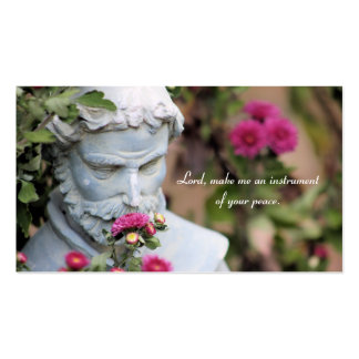 Saint Francis of Assisi Prayer Cards Double-Sided Standard Business Cards (Pack Of 100)