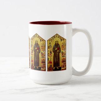 Saint Francis of Assisi Renaissance Two-Tone Coffee Mug