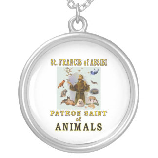 SAINT FRANCIS of ASSISI Round Pendant Necklace