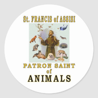 SAINT FRANCIS of ASSISI Stickers