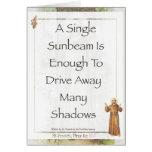 Saint Francis of Assisi Sunbeam PRAYER Greeting Card
