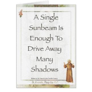 Saint Francis of Assisi Sunbeam PRAYER Card