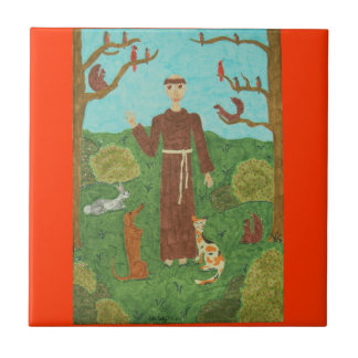 Saint Francis of Assisi Tile