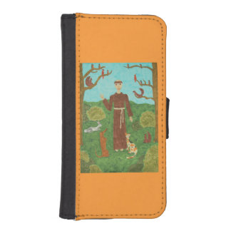 Saint Francis of Assisi Wallet Phone Case For iPhone SE/5/5s