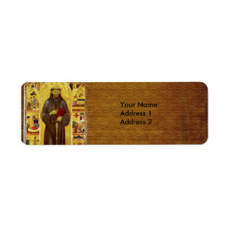 Saint Francis of Assissi Medieval Iconography Return Address Label