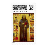 Saint Francis of Assissi Medieval Iconography Postage Stamp