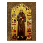 Saint Francis of Assissi Medieval Iconography Postcard
