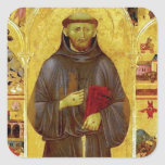 Saint Francis of Assissi Medieval Iconography Square Sticker