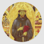 Saint Francis of Assissi Medieval Iconography Stickers