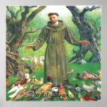Saint Francis print Poster