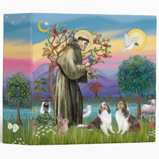 Saint Francis - Sheltie L2 Vinyl Binders