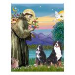 Saint Francis - Two Bernese Mountain Dogs Letterhead